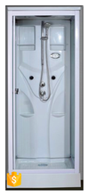 White ABS backboard portable complete shower room