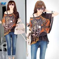 New Fashion Women Dresses Silk Dress Loose Novelty Print Dress Autumn-Summer 8 Colors