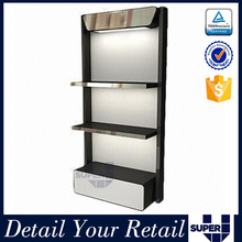 Jordan shoes show room design wall mounted display rack with LED light