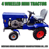 Alibaba China machinery supplier 4wd diesel mini tractor for sale! 12hp single cylinder four wheeled tractor with farming tools!