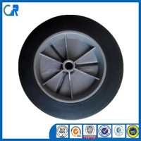 Yinzhu Qingdao manufacturer heavy duty 7x1.5 solid rubber wheels
