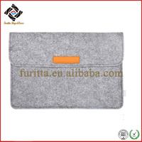 Popular wool felt 13 inch gray cheap laptop computer bag FRT3-288