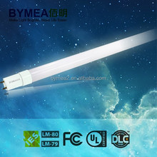 2015 newly developed all Glass series LED tube T8 600/1200mm, AC100-277 competitable for electronic and magnetic ballast