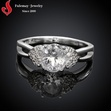 925 sterling silver plated wedding diamond silver ring price with ca stone.