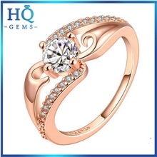 Best quality best-selling 18 karat rose gold plated ring