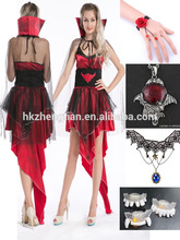 de lujo de vampiro de la reina de las señoras de disfraces de halloween traje de la mujer