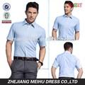 Novo estilo 2015 listrada homens manga curta camisa de vestido casual, vestuário dos homens