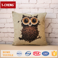 Hot Sale Cute Owl Pattern Design Printing Cushion,Home Decor Pillow Case,Crochet Knitted Seat Cover