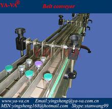 mesa de acero superior de la cadena transportadora