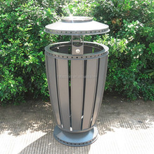 Customized Color Galvanized Steel outdoor trash bin