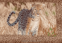 wild and dangerous animal leopard design polyester fabric home textile