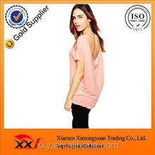 Women clothes ladies cotton shirt no collar scoop back wholesale alibaba