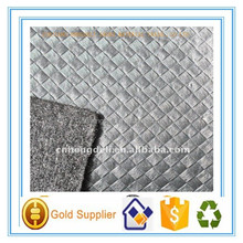 Black Weave PVC Leather for bag or shoe