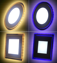led color changing blue frame with white color led thin panel light