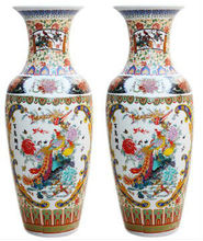 90cm Antique Chinese Ceramic Large Floor Vases