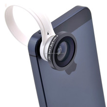 Optical Lens for Mobile Phone 3 in 1 Set 180 Degree Fisheye Lens + Wide Angle + Micro Lens with C Clip for Smart Phone