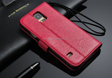 For samsung galaxy s5 case leather wallet , phone case wallet leather case for samsung S5 HH-CPS503(6)