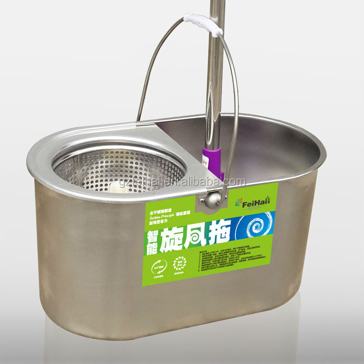 Tbt02 Stainless Steel Mop Bucket 360 Degree Spin Buy Mop