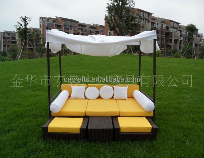 Luxury wicker rattan outdoor daybed Patio Wicker Outdoor Daybed Set(LD ...