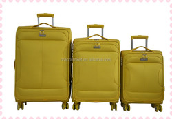 New soft strong colorful trolley luggage with new styles