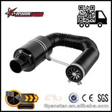 """UNIVERSAL FORCED COLD AIR FEED 3"""" CARBON FIBRE INDUCTION RAM AIR FILTER INTAKE"""