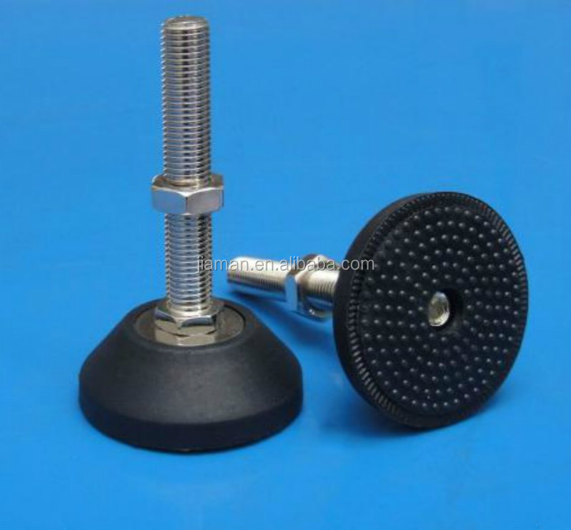Machine Leveling Mounts : Adjustable steel feet stud mount leveling used for
