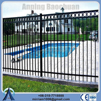 China supplier export & wholesale cheap steel used portable black temporary swimming pool fence