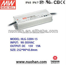 Meanwell 320W led dimming driver aluminium profile lighting 320w 15v smps