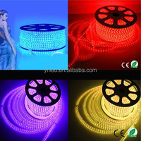 factory price high voltage led strip 5050 rgb led strip light Waterproof 60Led/M dimmable led light rope for chrismas