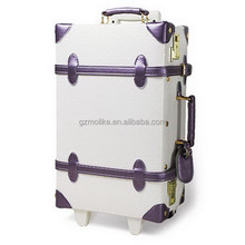2015 exported leather new design trolley luggage set