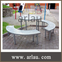 (TB-N101) Outdoor Metal Steel Table and Bench Seat