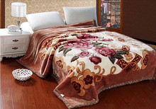 SZ-A02 super king size polyester mink blanket heating blanket two ply printed