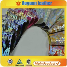 Made in China fashion design for shoe and handbag shining leather material