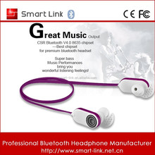 New portable in ear bluetooth headphone for ipad/ipod use