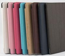 PU Leather stand case for ipad mini 1 2 3 Imitation leather Wood for iPad mini