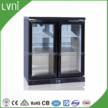 LVNI 200L,stainless steel back bar beer cooler,mini fridge/table cooler