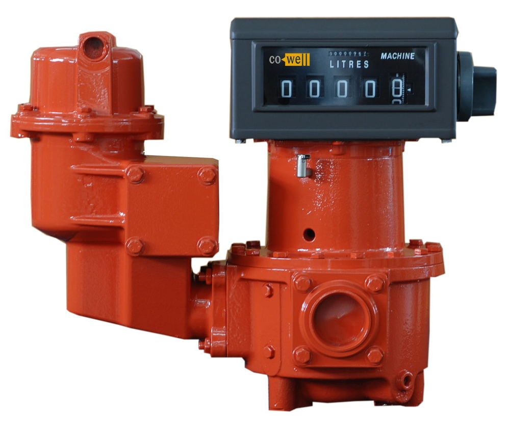 Gravity flow meter for loading, unloading, trafering oil