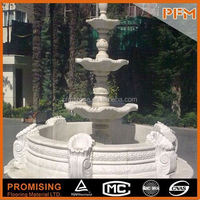 Natural stone Pure hand carved fountain fish sculpture