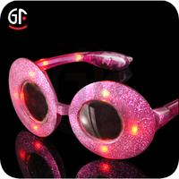 Quality Products 2015 football shaped special custom Glitter Party Sunglasses
