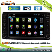 2 din auto radio car dvd gps with Radio/3G/Phonebook/mp4/mp5/TV/USB/SWC/free wifi dongle mirror link android 4.4.4