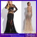 2014 diseñador vestido de fiesta de compras en línea barata largo sexy transparencia del partido nueva sexy vestido de fotos de