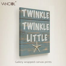 Funny canvas painting, interesting letters printed on canvas