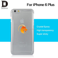 Invisible gel sticks on flat surface epoxy handphone covers