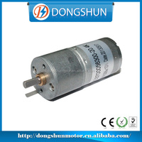 DS-25RS370 center shaft battery operated 6v 12v dc cw/ccw micro gear motor