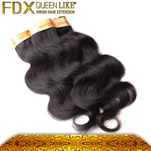 7A grade virgin Soft & clean & healthy natura 100% human hair extension