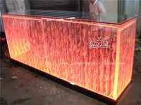 KTV Bar Night Club aquarium lights glass top bar counter design