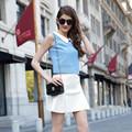 Hjl-c1104 Veri Gude verano último diseño moda europea para mujer de dos piezas de vestido de cola de pescado