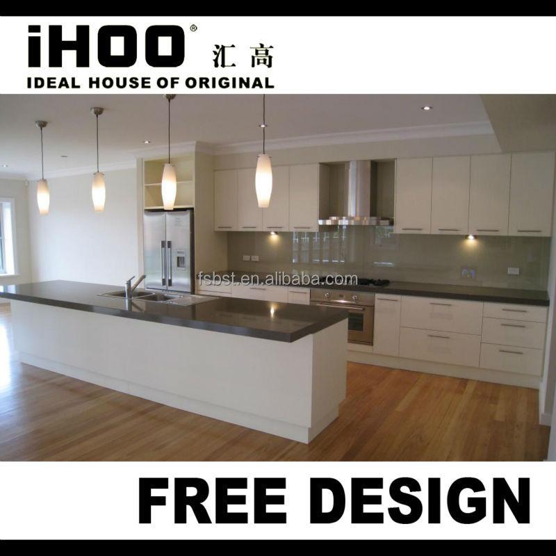 Hoogglans laminaat horizontale keukenkastjes witte keukenkastjes ...