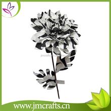 Decorativo patrón blanco y negro artificial flor de la momia