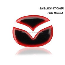 3D New Mazda 2 3 5 6 Emblem Sticker for Mazda Steering Wheel Mazda Tail Rear Emblem
